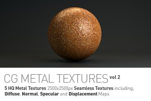 5 Metal Textures for CG Artists vol2