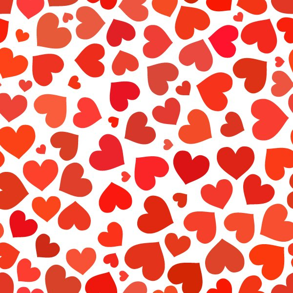 Red And White Patterned Wallpaper: Red Heart On A White Pattern
