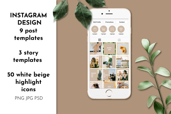 Instagram Puzzle Template Highlight