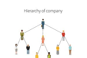 Hierarchy of company illustration