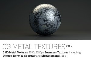 5 Metal Textures for CG Artists vol3