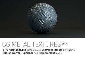 5 Metal Textures for CG Artists vol4