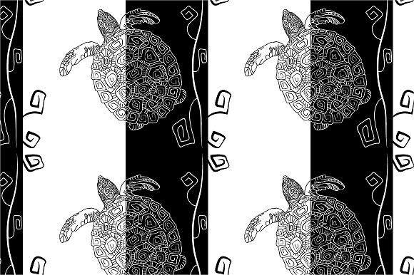 "Seamless pattern ""Black and white"""