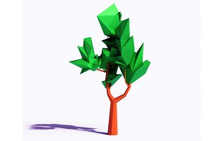 Beautiful Low Poly Tree