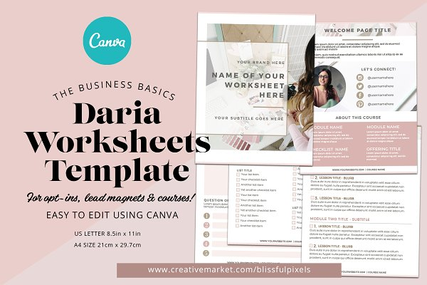 Daria - Worksheet or Course Template