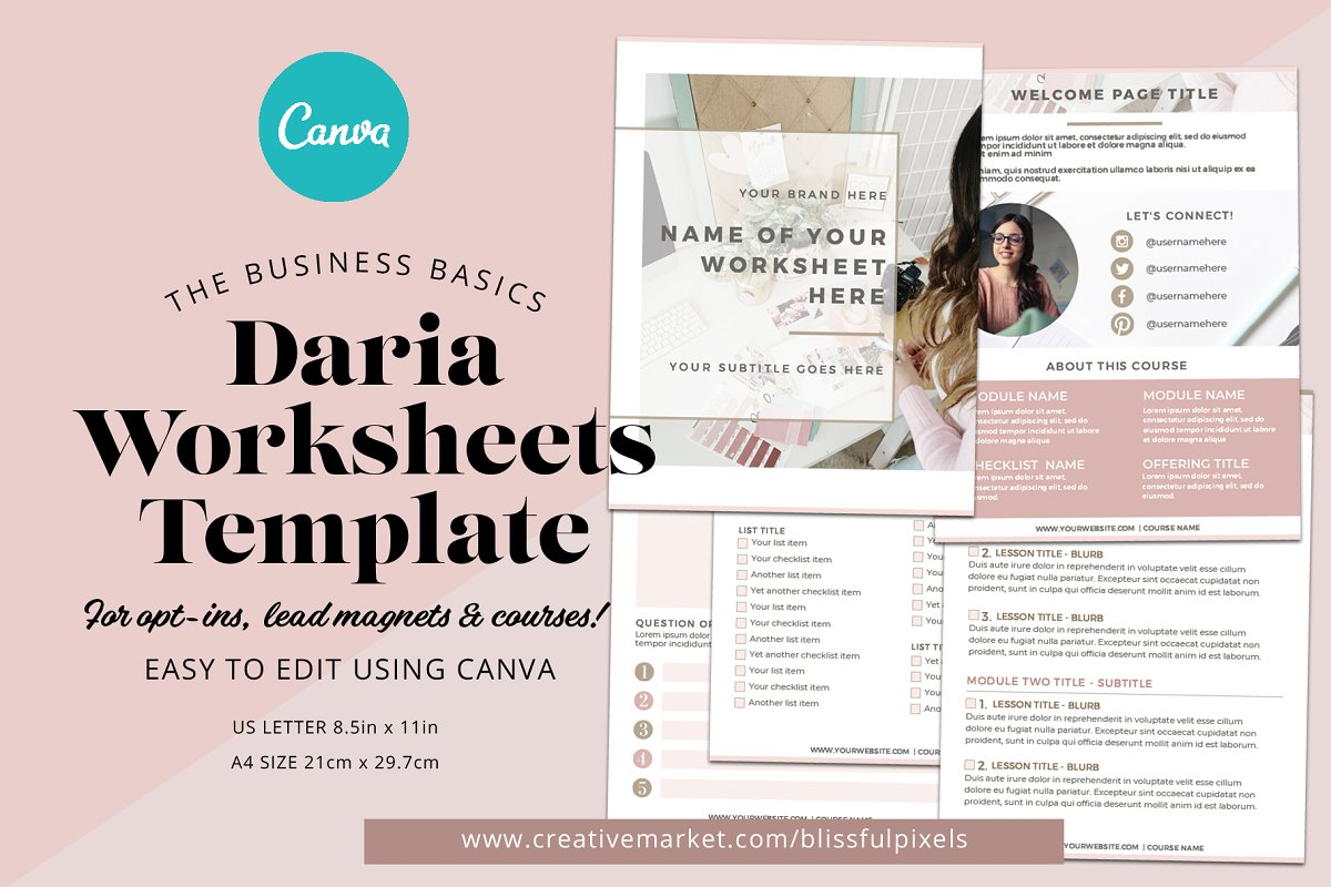 Daria - Worksheet or Course Template in Templates - product preview 8