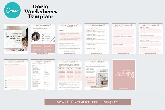 Daria - Worksheet or Course Template in Templates - product preview 1