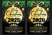 Christmas And Happy New Year Flyer