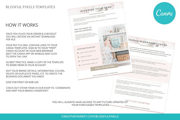 Daria - Worksheet or Course Template in Templates - product preview 3