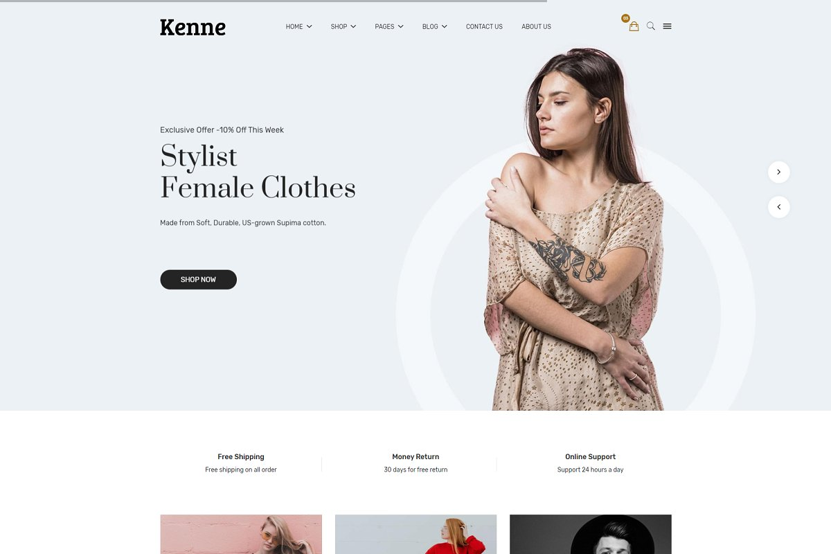 Kenne - Fashion Store HTML Template