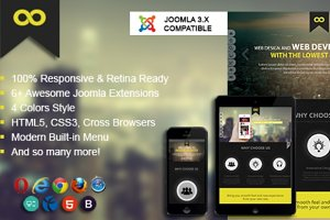 Onepage Portfolio Joomla Template
