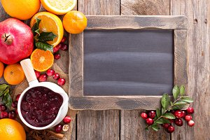 Cranberry sauce background