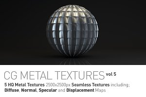 5 Metal Textures for CG Artists vol5