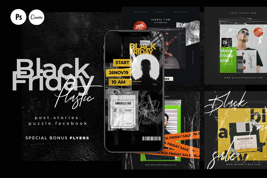 PS & CANVA BLACK FRIDAY Social Media