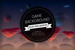 Galaxy Space Adventure Background