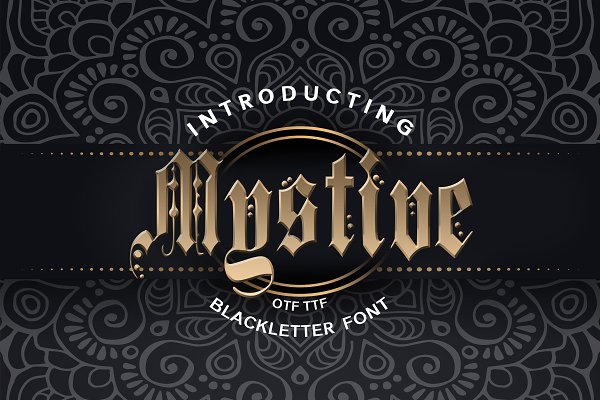 Mystive Blackletter Font