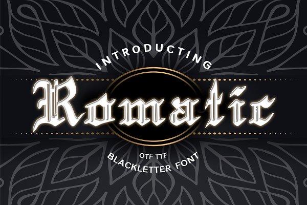 Romatic Blackletter Font