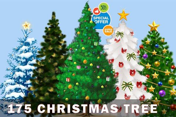 Christmas trees bundle