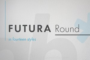Futura Round Light Oblique