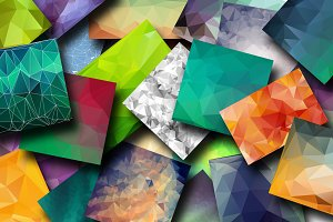 25 Polygonal Backgrounds