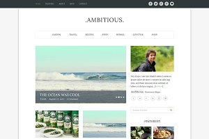 Ambitious-Multi WordPress Blog Theme