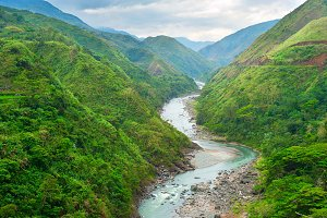 Mountains river, Phillipines