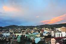 Baguio city at sunset, Phillipines