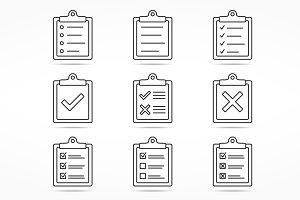 Checklist Line Icons
