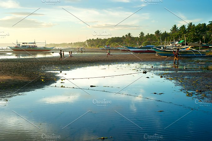 Low tide. Donsol, Philippines - Nature