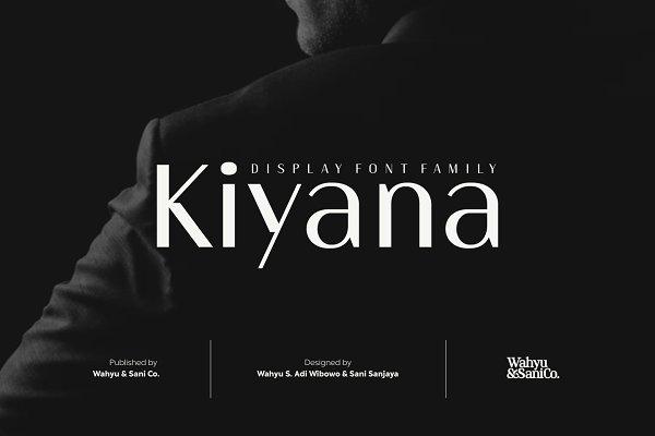 Kiyana | Display Sans Font Family