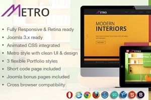Metro - Multipurpose Joomla Template