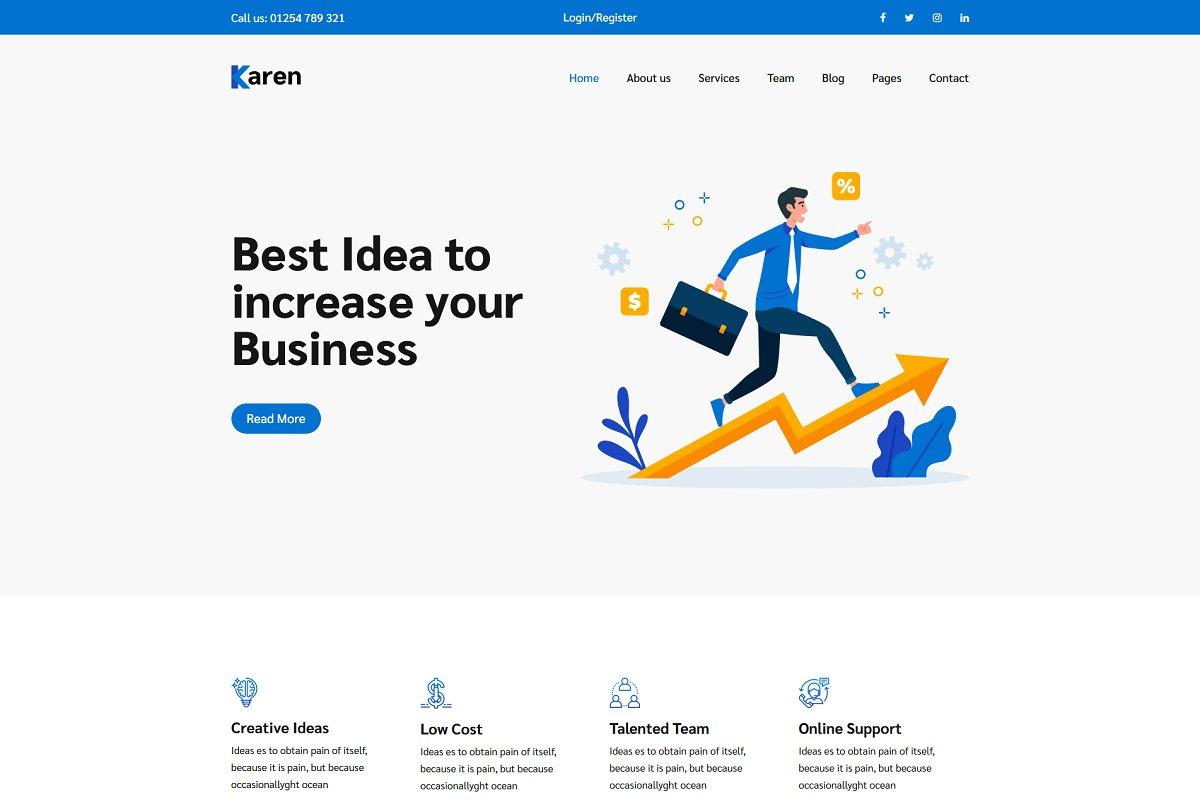 Karen – Corporate Business Template
