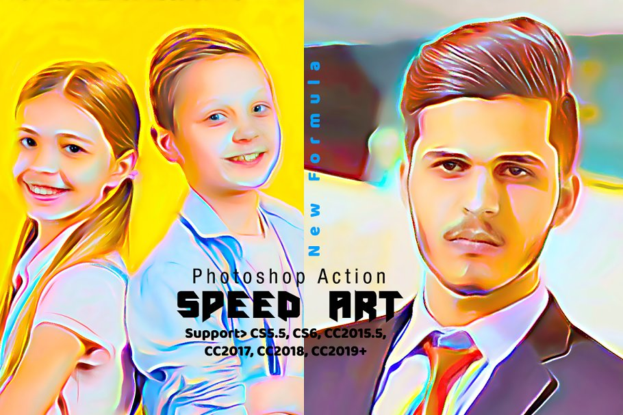 Speed Paint Photoshop Action