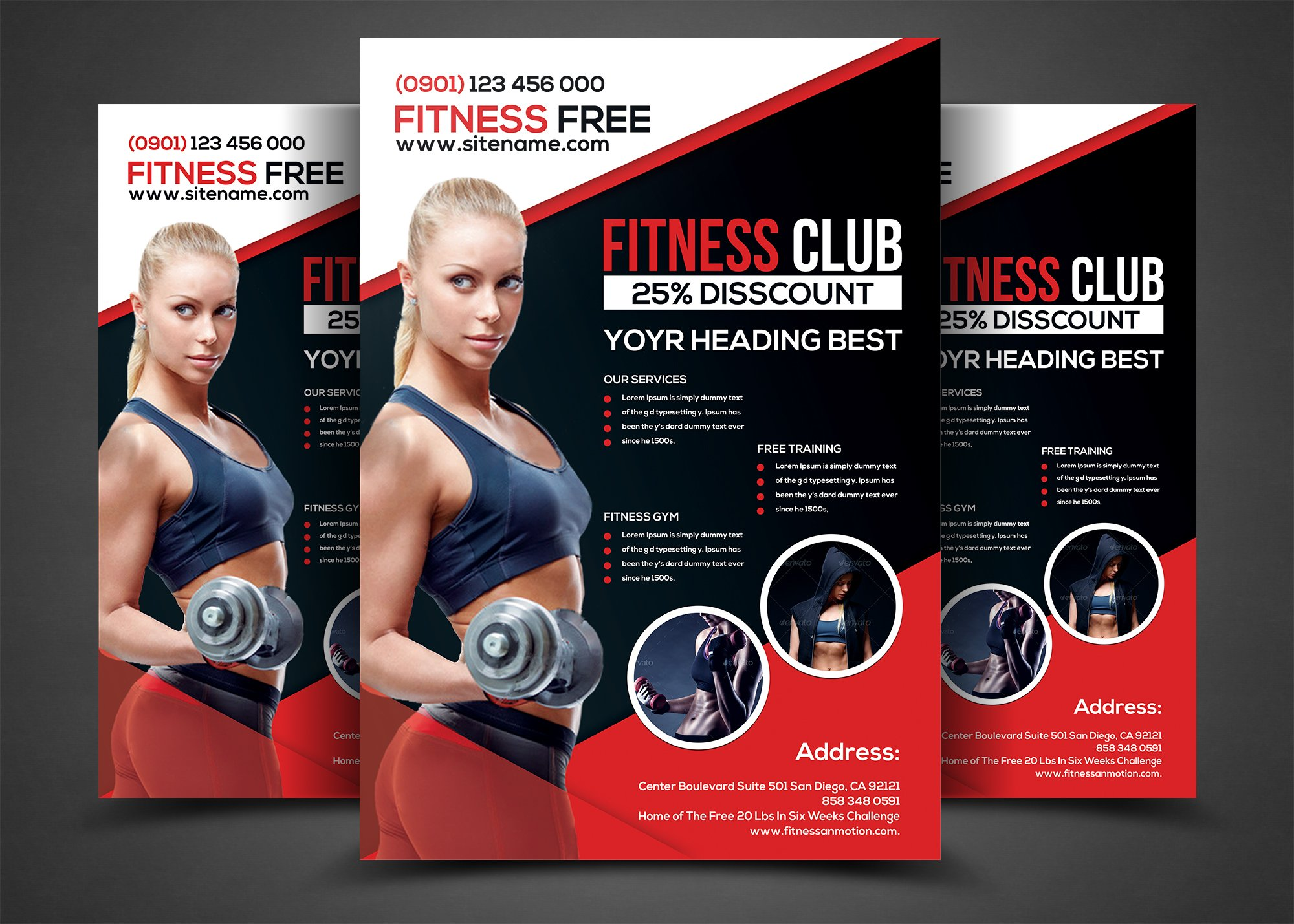 Fitness flyer template Photos Graphics Fonts Themes Templates – Fitness Flyer Template