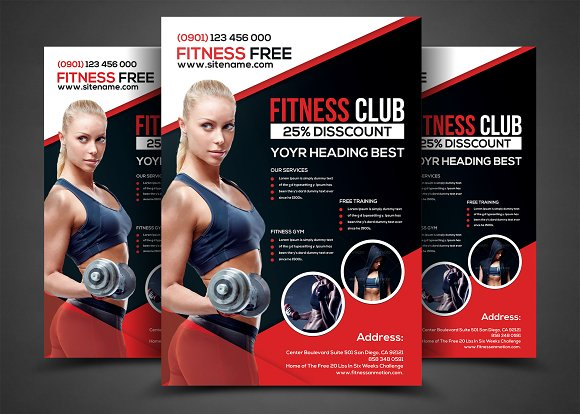 Fitness Flyer Gym Flyer Templates Flyer Templates on Creative – Fitness Flyer