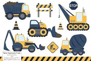 Navy & Lemon Construction Trucks