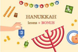 Hanukkah icons + BONUS