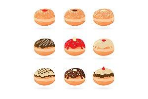 SALE! Vector Hanukkah Donuts Set