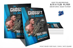 Crossfit Schedule Flyer Bundle Set