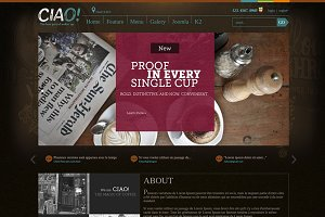 Ciao - Coffee Joomla Template