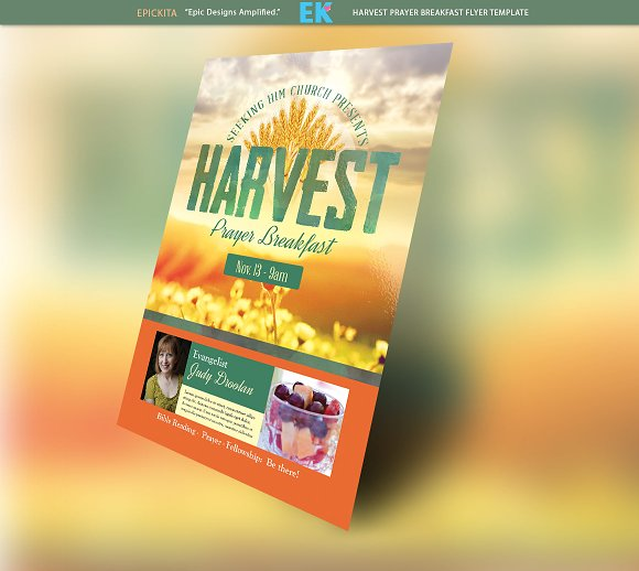 harvest prayer breakfast flyer flyer templates creative market
