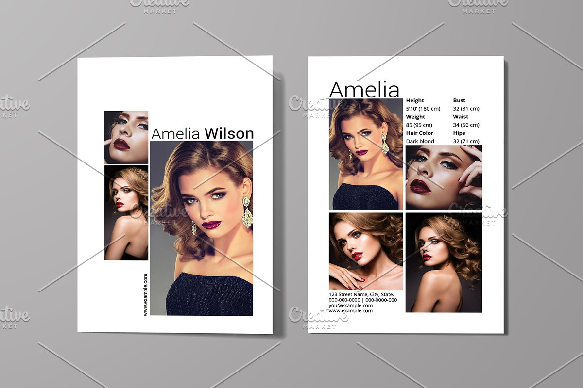 Models Comp Cards Template - HD Modello Intended For Comp Card Template Psd