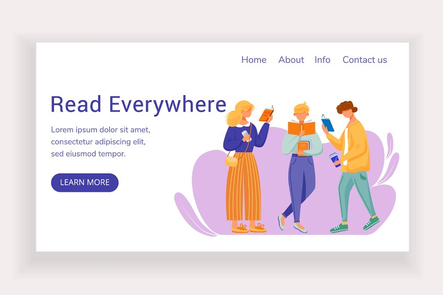 Read everywhere landing page in Landing Page Templates