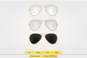 Sun glasses vector illustration