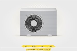 Air conditioner vector illustration
