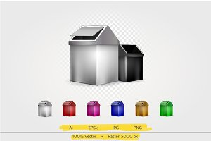 Waste container vector illustration