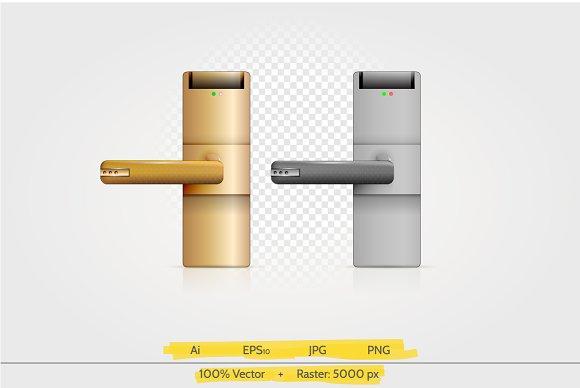 Digital lock vector illustration
