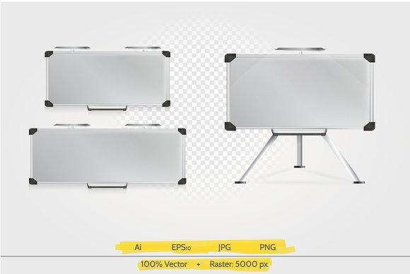 Presentation board vector illustrati
