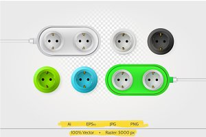 Sockets vector illustration