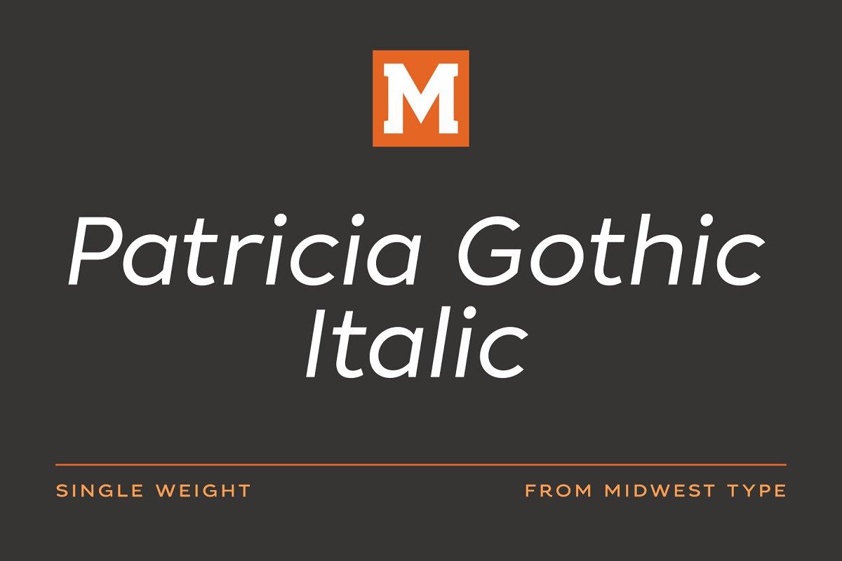 Patricia Gothic Regular Italic
